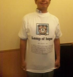 お客様着用写真_Lamp of hope寄せ書きTシャツ