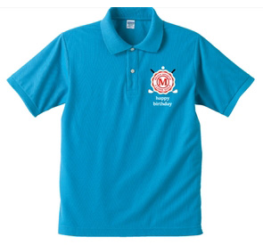 誕生日ポロシャツ:誕生日ハッピーゴルフボーイ商品画像